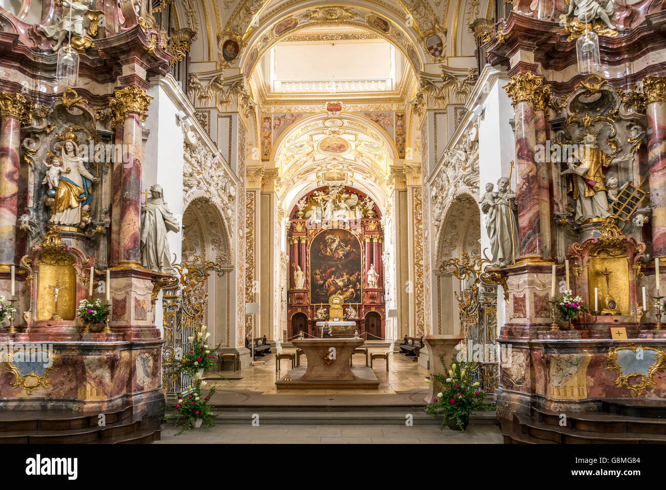 interior and altar of the church st lorenz basilica kempten stock photo royalty free image. Black Bedroom Furniture Sets. Home Design Ideas