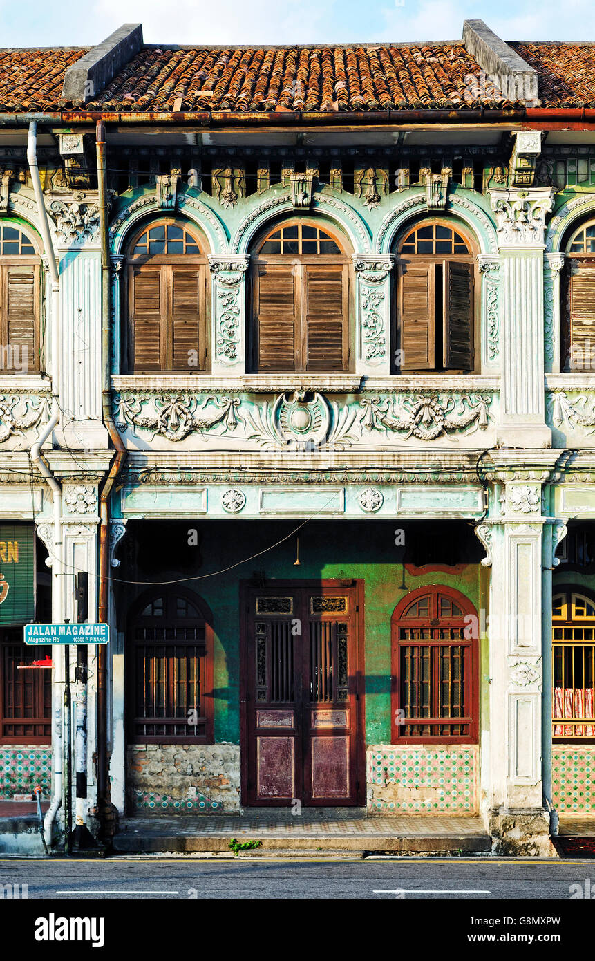 Chinese malay colonial architecture in penang panang old for Classic house kl