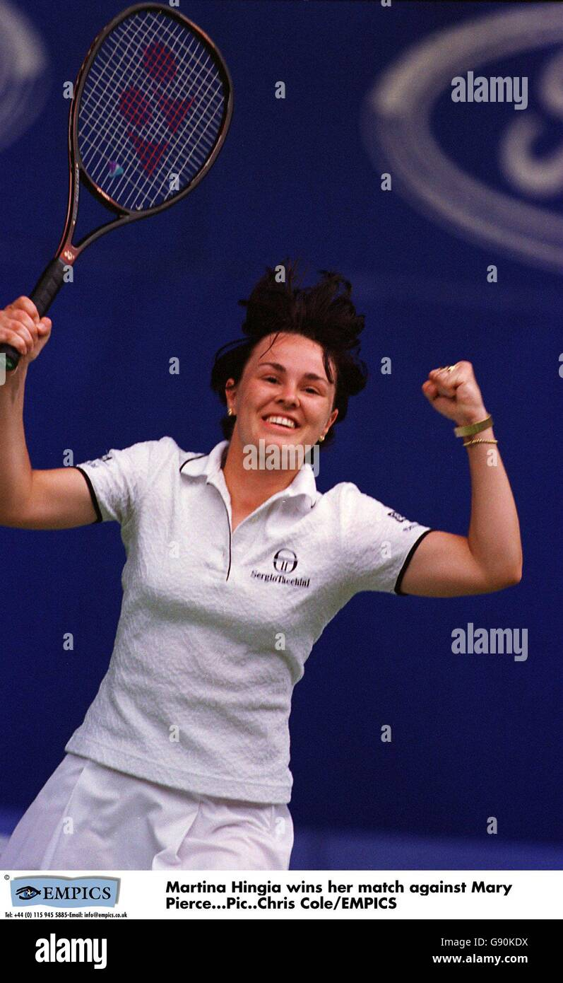 Tennis Ford Australian Open Martina Hingis v Mary Pierce Stock