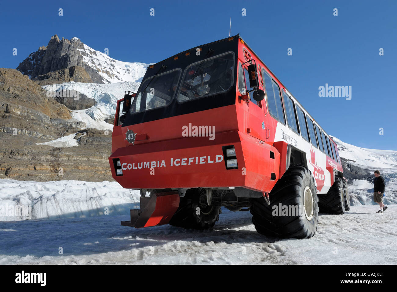 Athabasca Glacier Tour Bus