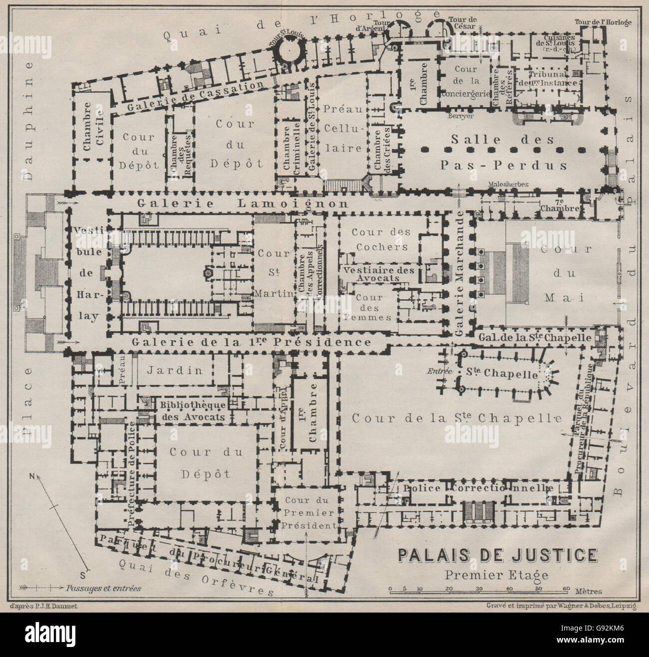 palais de justice premier étage first floor plan île de la cité