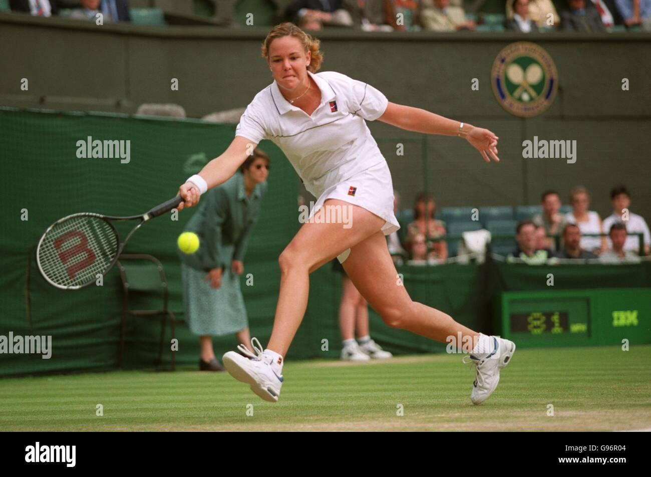 Tennis Wimbledon womens final Steffi Graf v Lindsay Davenport
