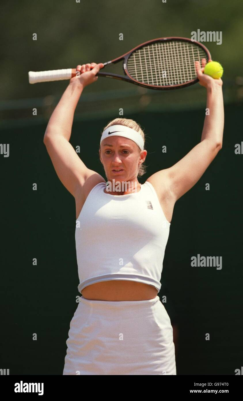 Tennis Wimbledon Womens Singles elena Wagner v Mary Pierce