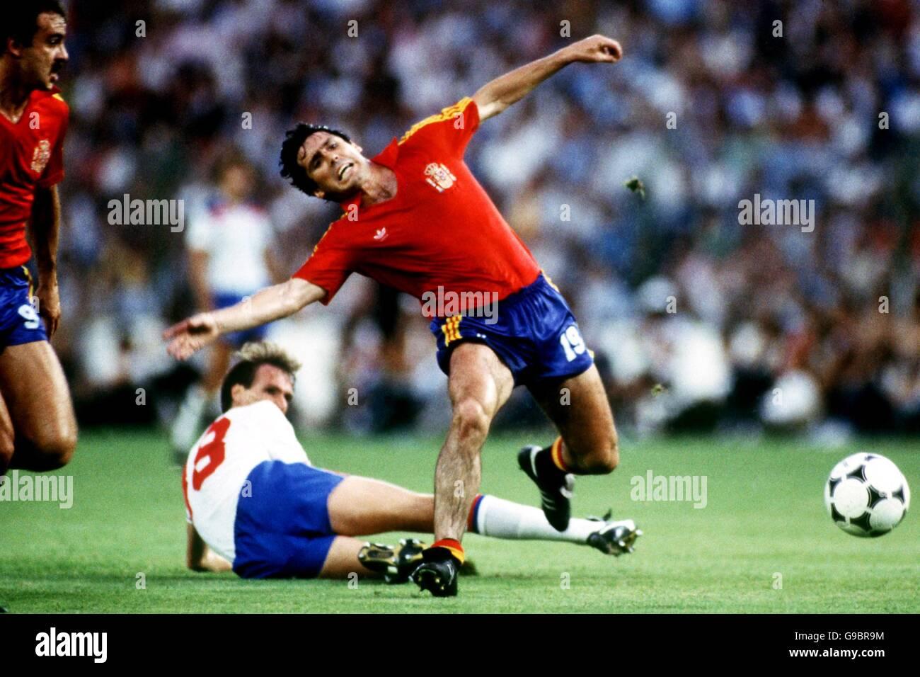 Soccer World Cup Spain 82 Group B England v Spain Stock