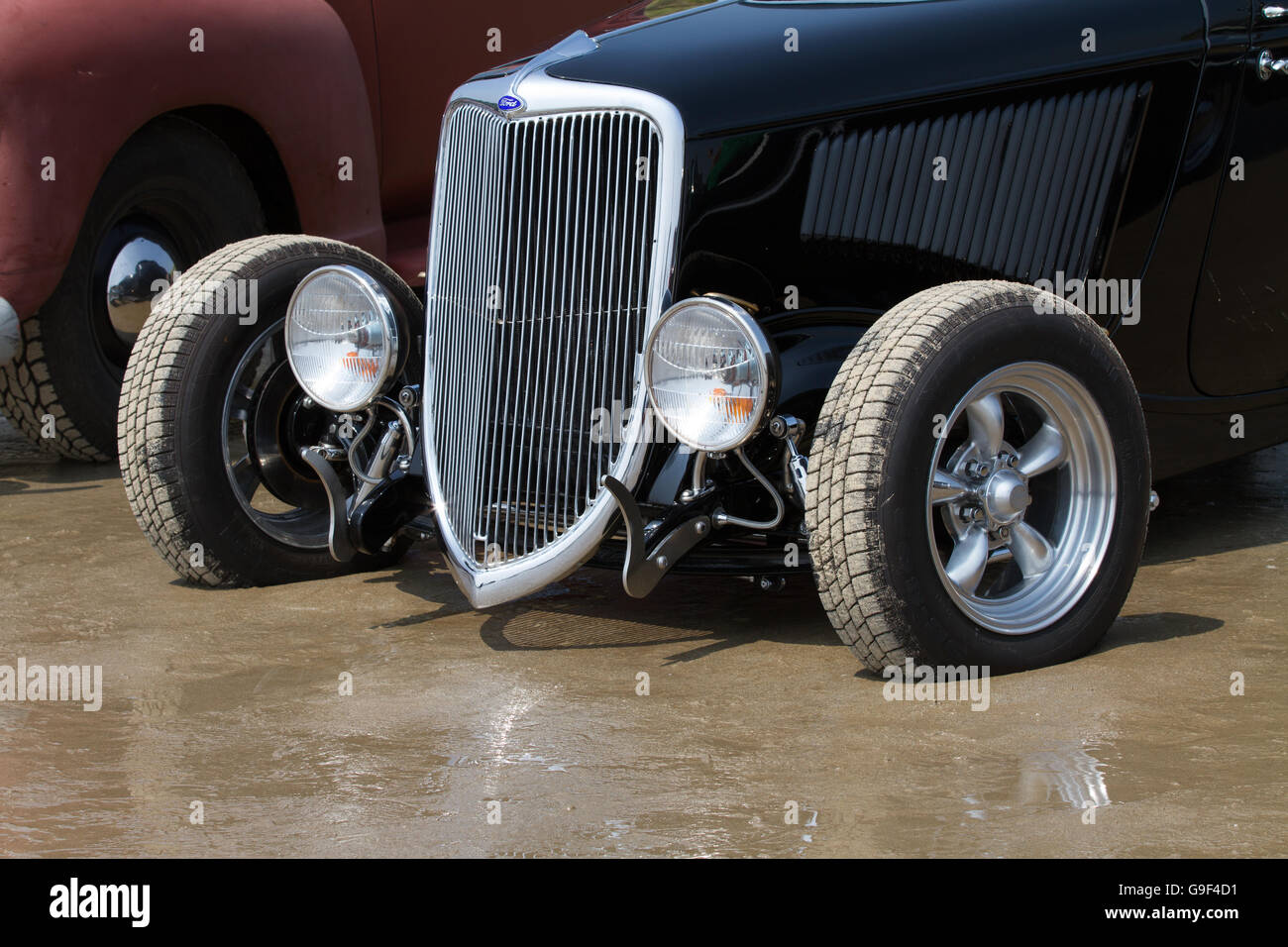 Classic American car taken during a vintage car display held in ...