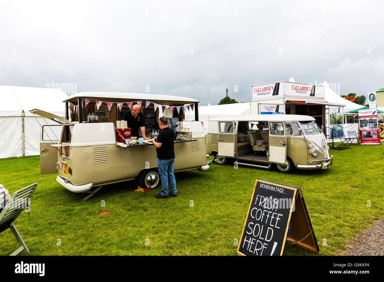 Cafe In VW Camper Van Trailer Conversion Volkswagen Coffee Tea UK England GB