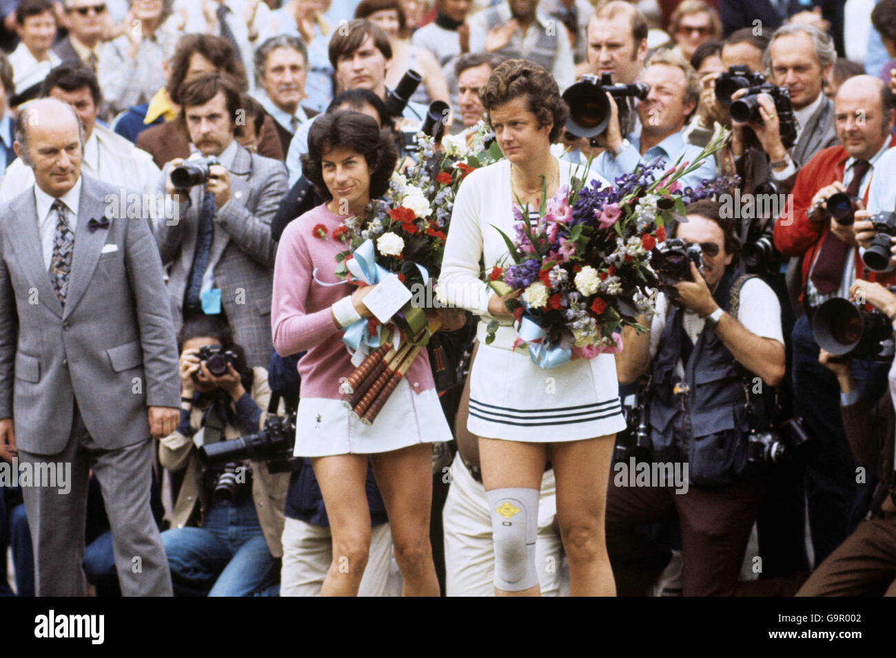 Virginia Wade v Betty Stove Wimbledon La s Final Stock