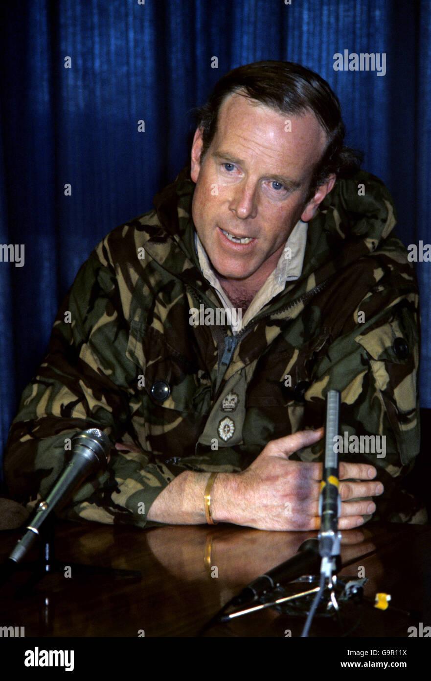 Falklands war welsh guards return home stock image