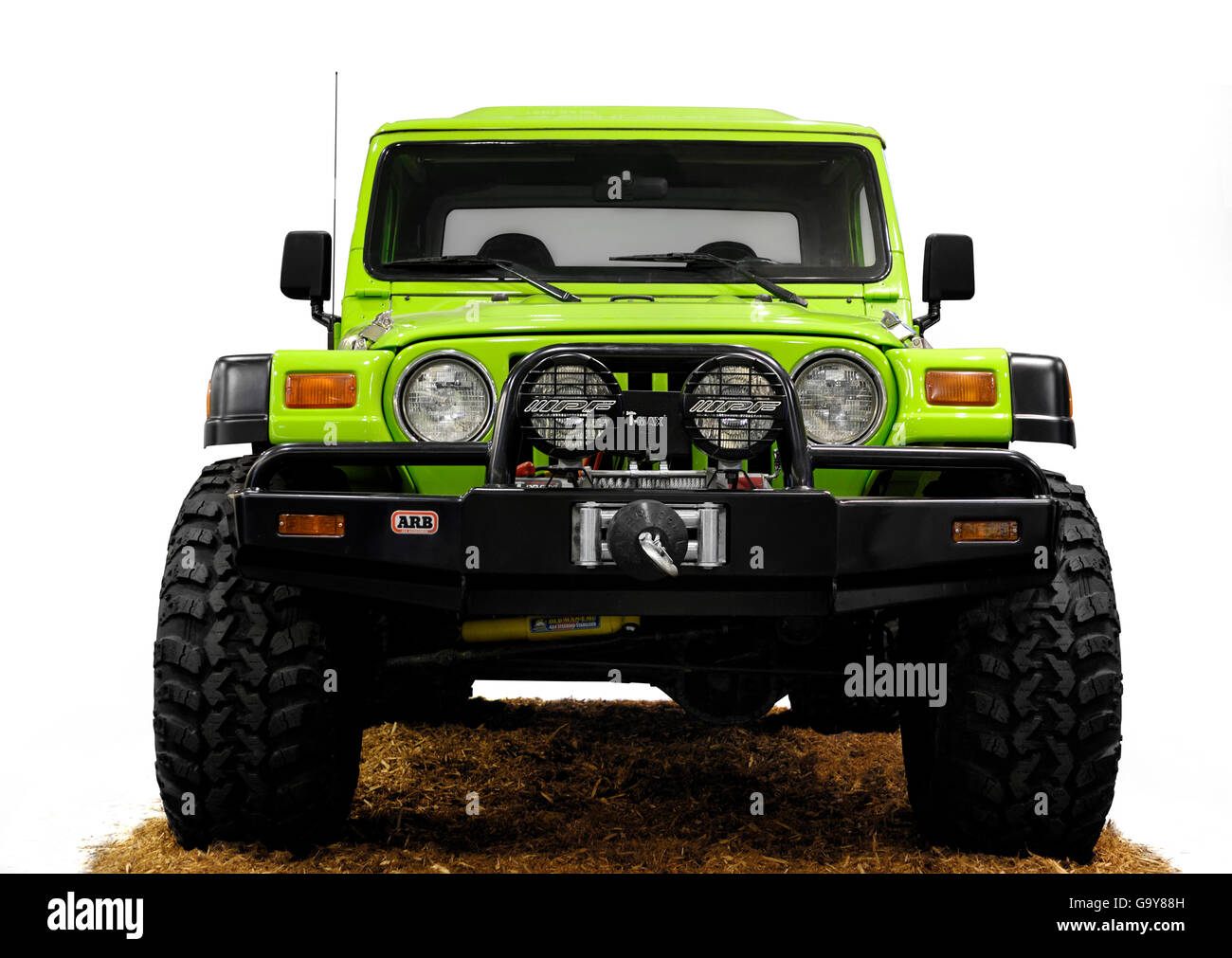 American expedition vehicle brute jeep wrangler tj conversion by national 4wd centres stock image