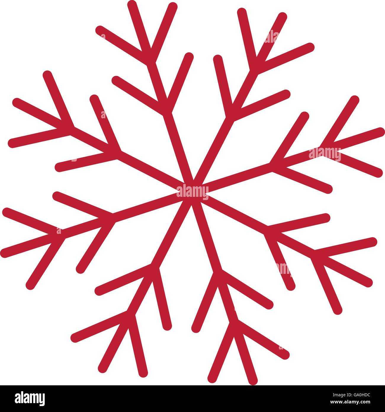 Red snowflake vector