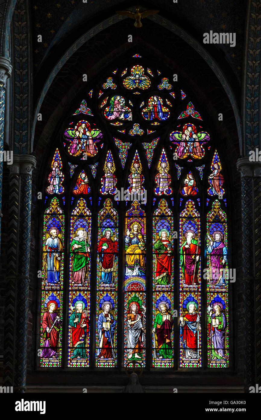Stained Glass Windows In St John The Baptist Roman Catholic Church Tralee Ireland