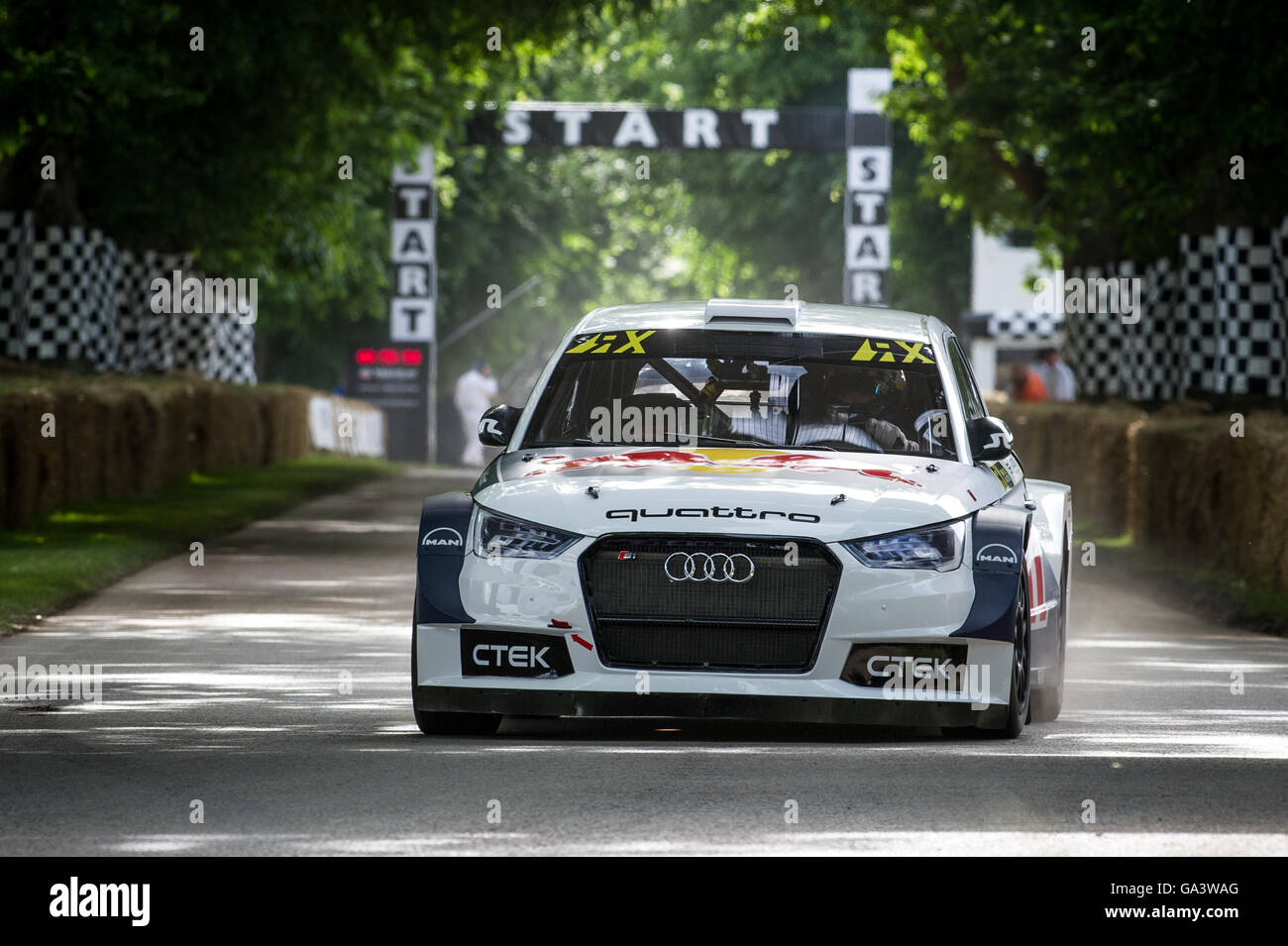 Andrew Jordan Drives The Audi S EKS RX Rallycross Car Up The Hill - Audi car jordan