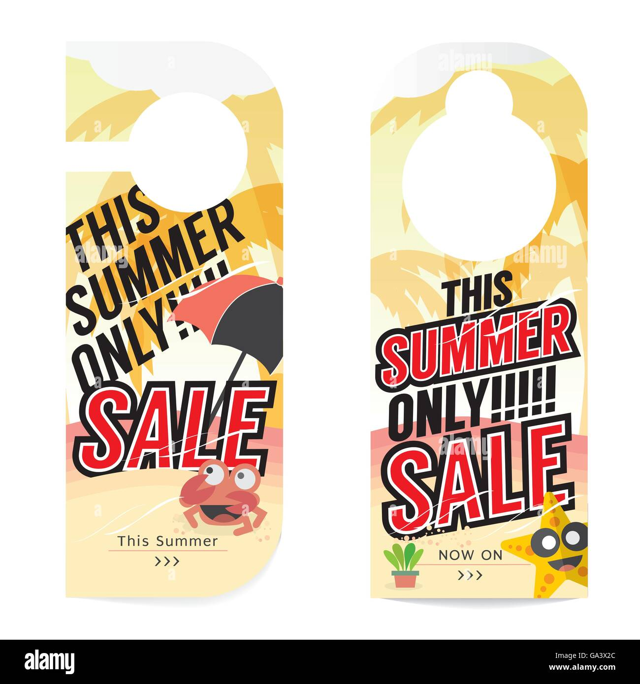 Summer Sale Tag Template Vector Illustration Stock Vector Art