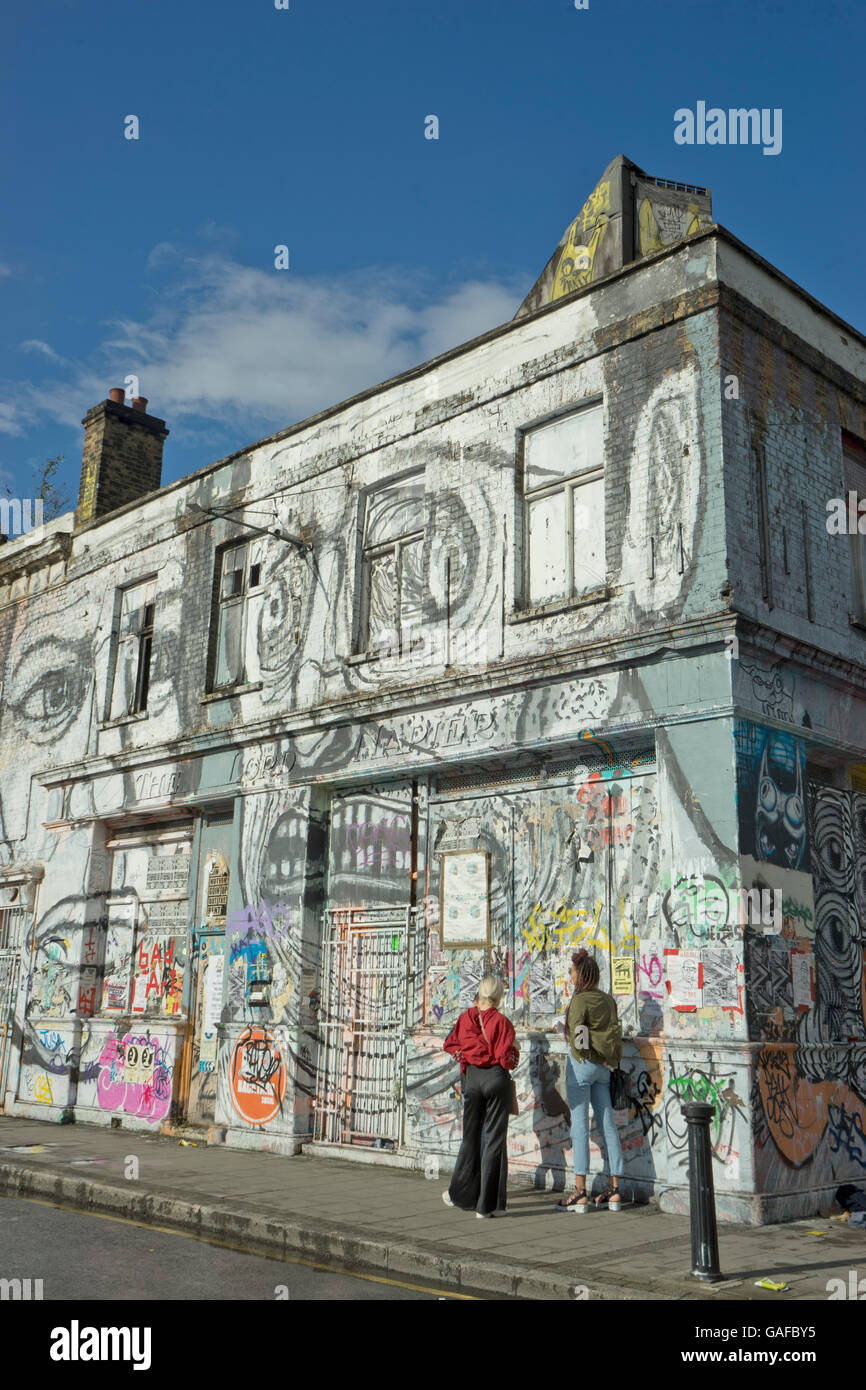 Hackney Wick Warehouses And Pubs Converted To Art Studios Near Olympic Park In East London UK