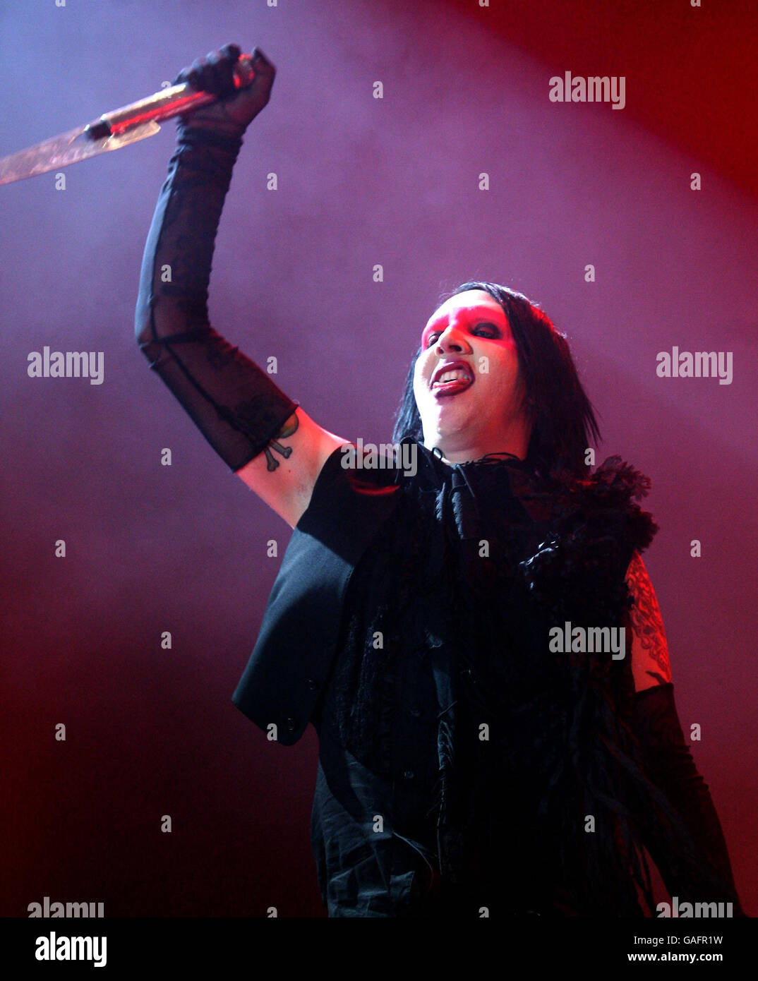 Marilyn manson performs in concert at wembley arena stock photos marilyn manson in concert london stock image kristyandbryce Choice Image