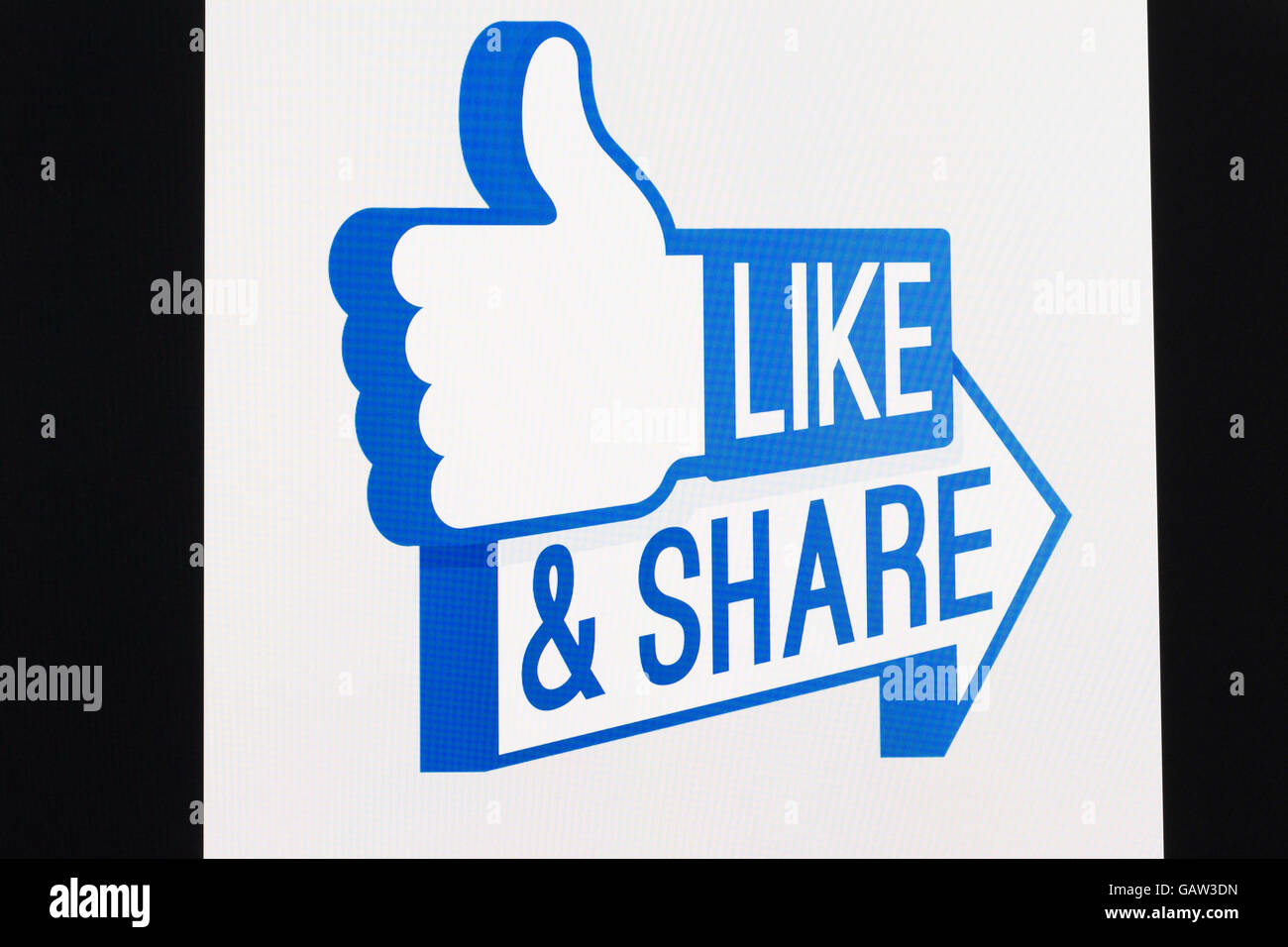 Screenshot of a like share symbol stock photo 109960305 alamy screenshot of a like share symbol buycottarizona Choice Image