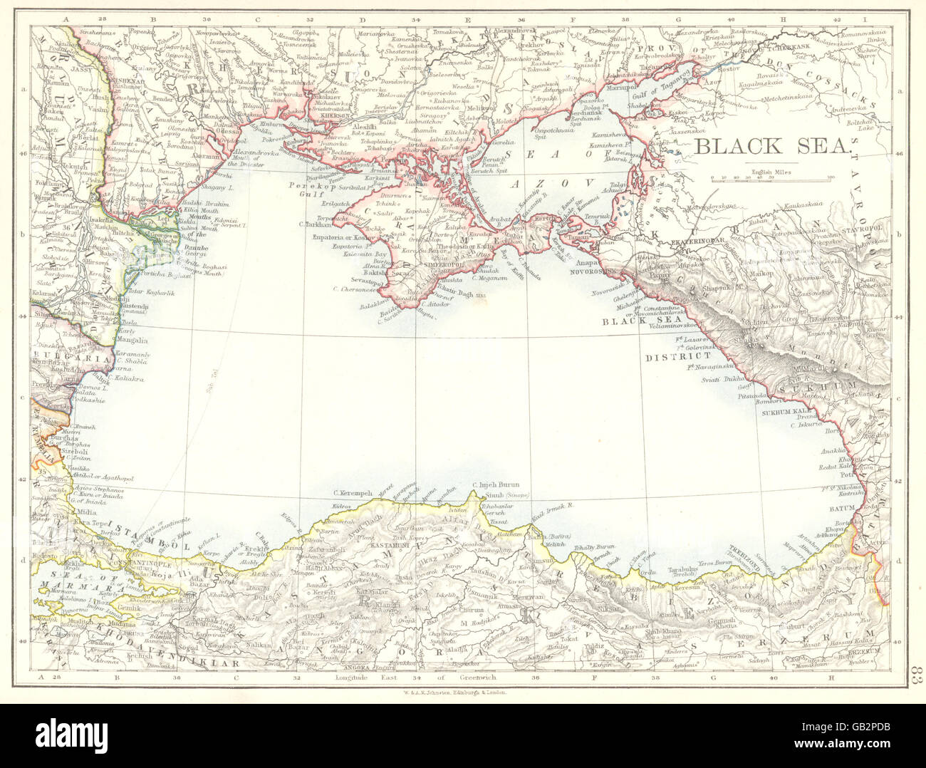 BLACK SEA Ukraine Georgia Turkey Romania Bulgaria Russia Moldova - Georgia map ukraine