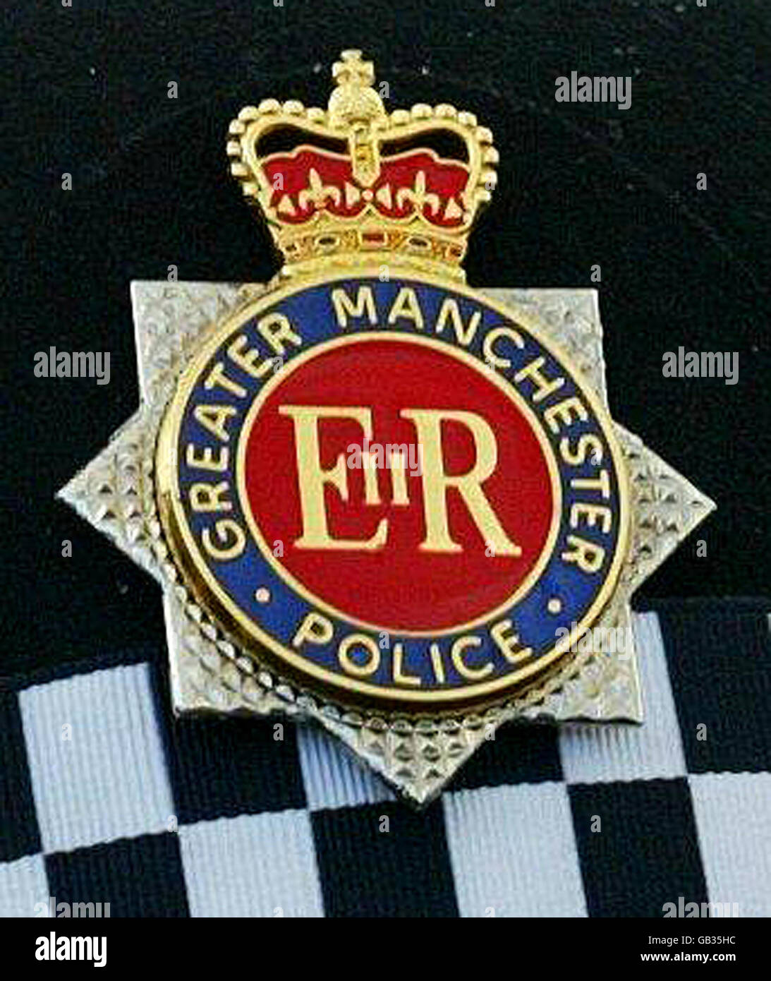 greater manchester police badge stock photo royalty free image