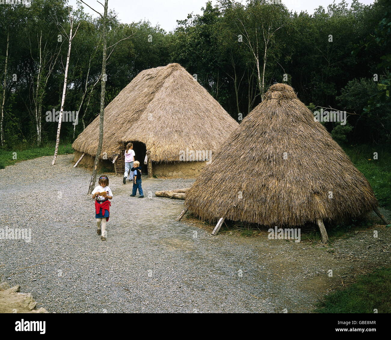 Prehistory Architecture Neolithic Farm Circa 7000 BC Ireland Wexford National Heritage Park