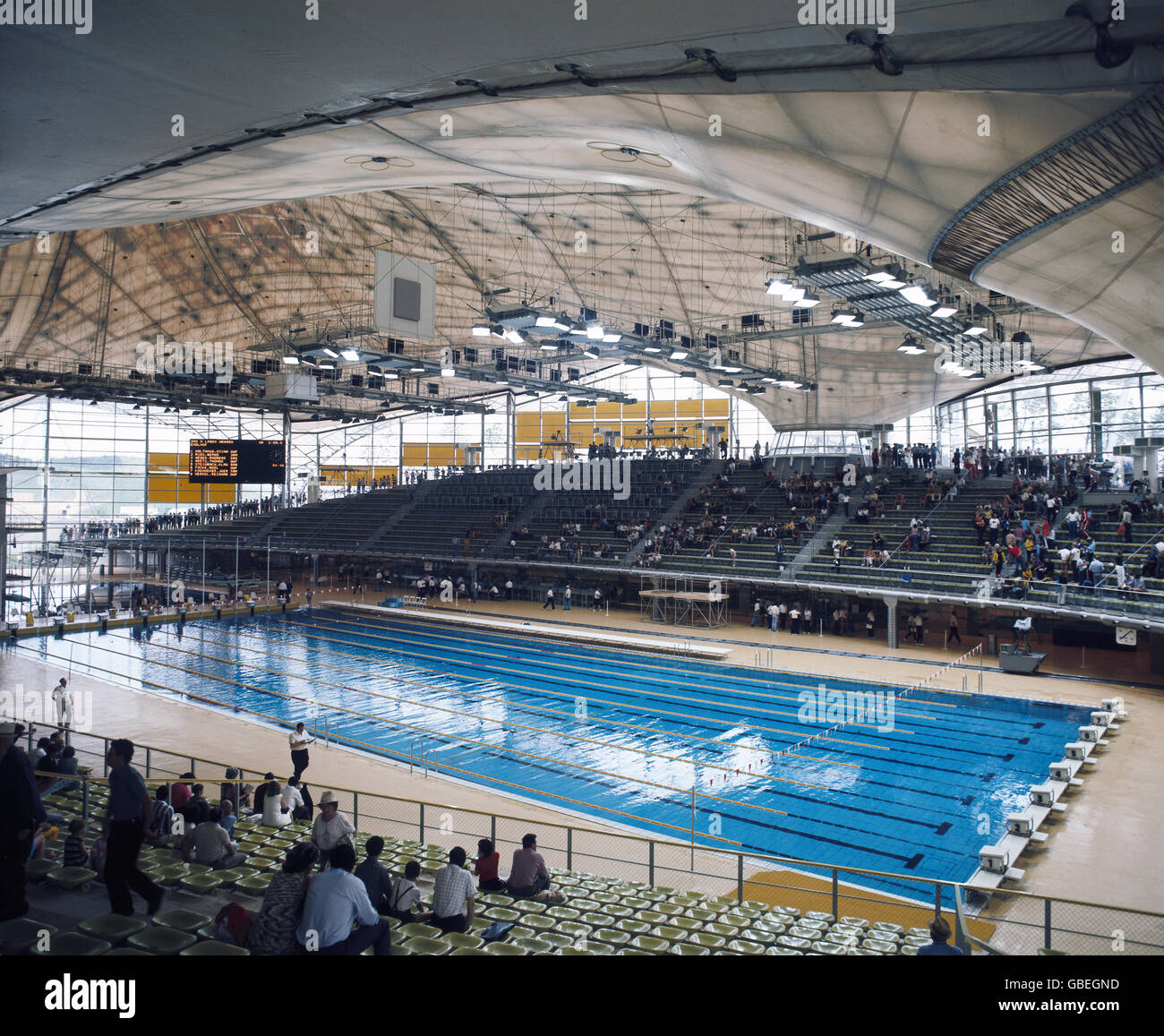 stock photo sport olympic games munich 268 1191972 indoor swimming pool interior view 1972