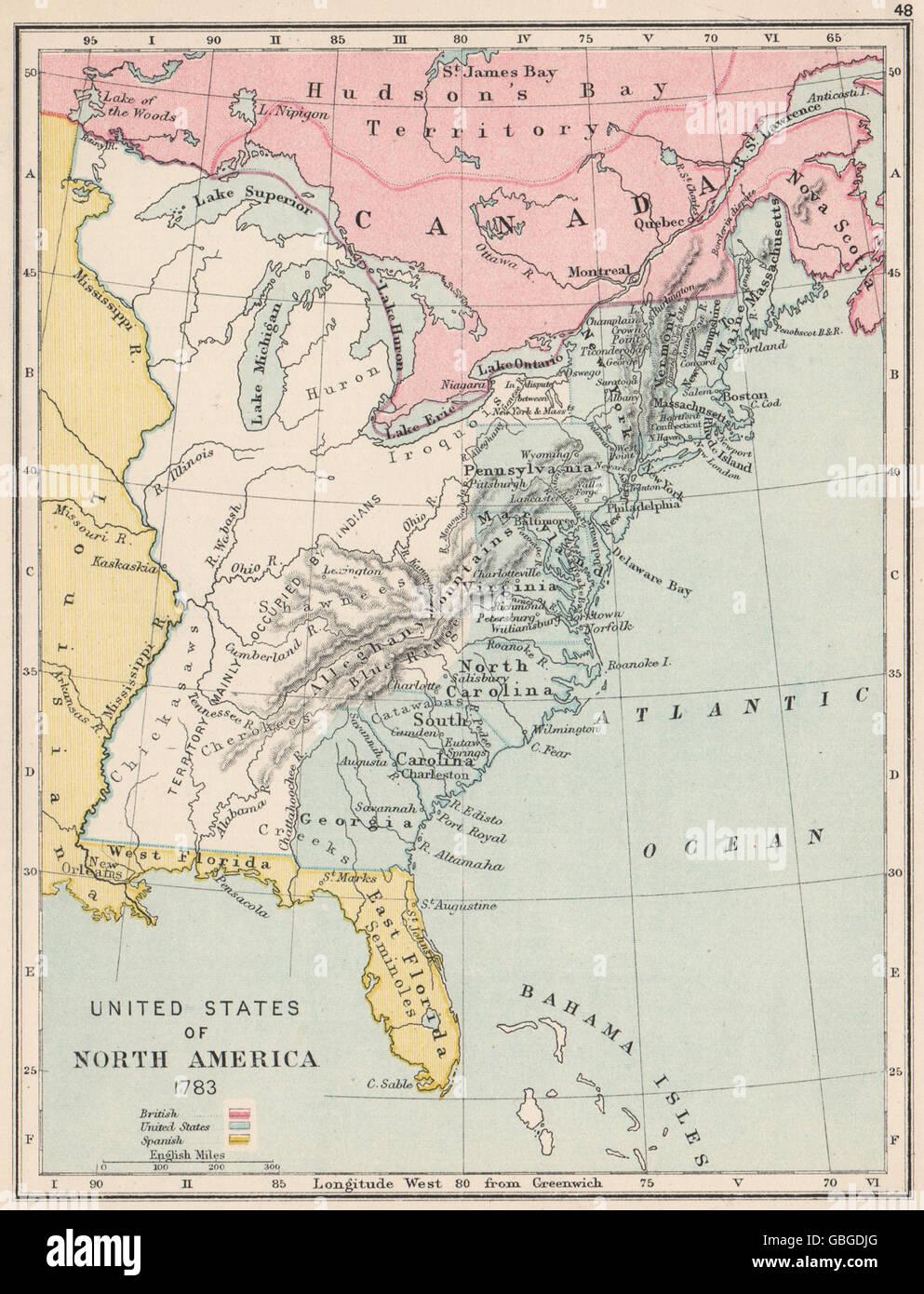 USA IN North America Spanish Florida Louisiana - North louisiana map