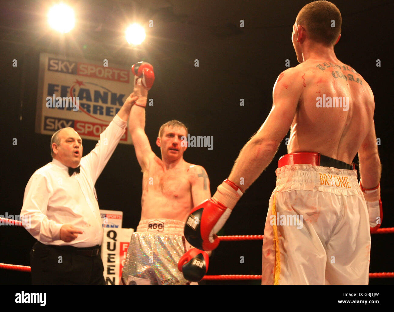 Boxing Super Middleweight Kenny Anderson v Nathan King Stock