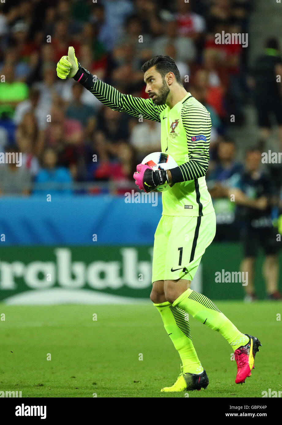Lyon France 06th July 2016 Goalkeeper Rui Patricio of Portugal