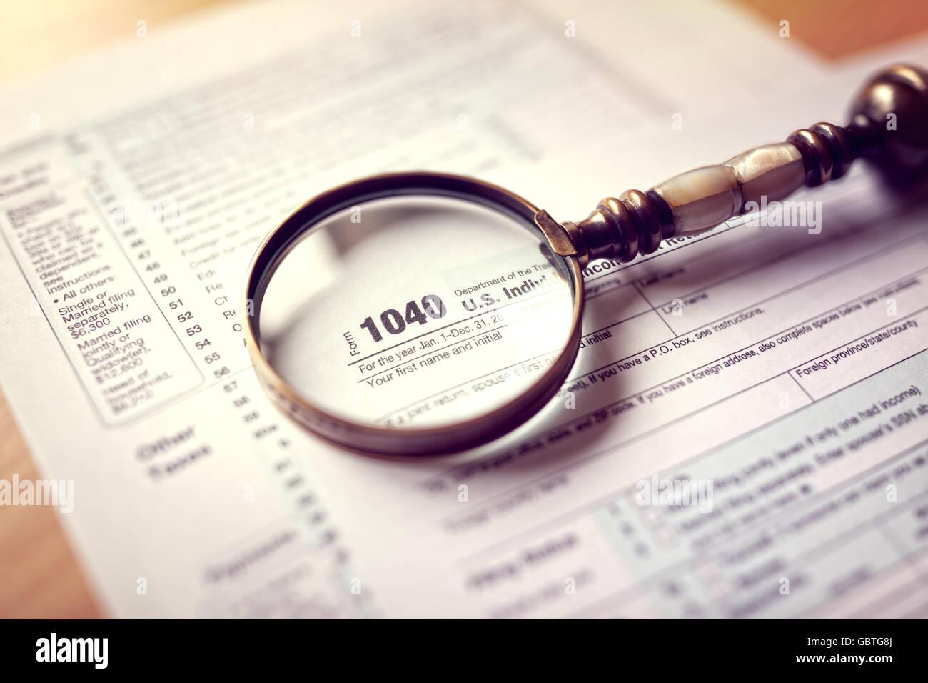 1040 tax return form choice image standard form examples income tax 1040 us individual tax return form and magnifying glass income tax 1040 us individual falaconquin