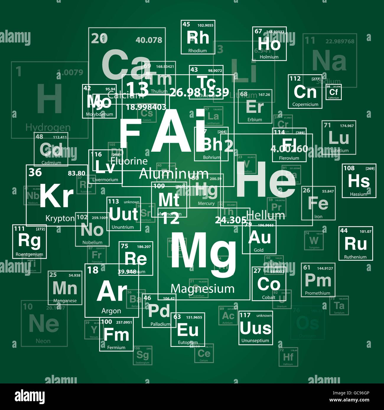 Periodic table of the elements isolated stock photo royalty free 3d rendering periodic table of the elements background illustration stock photo gamestrikefo Choice Image