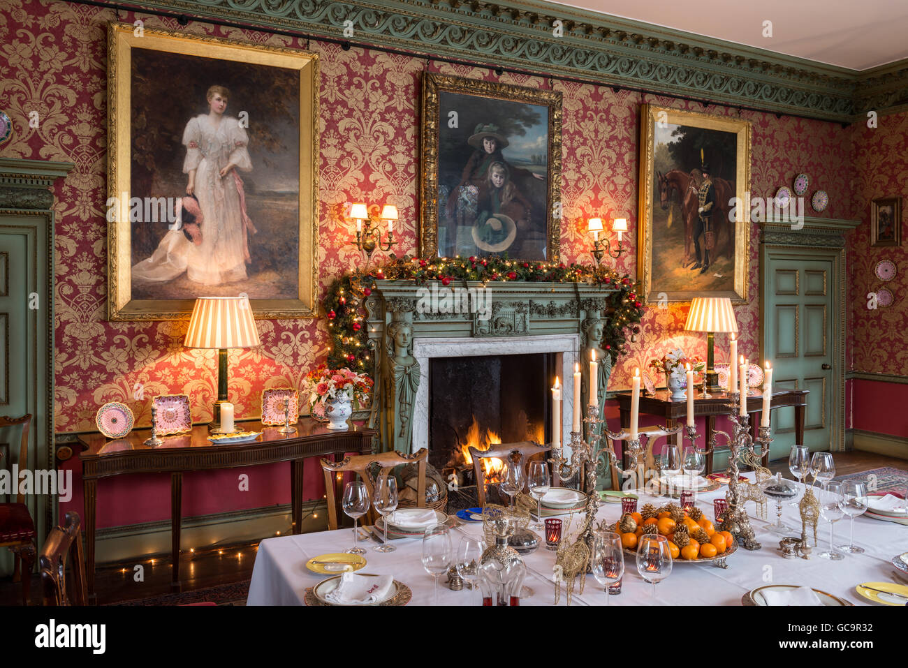 Grade I Listed Victorian Gothic Dining Room Set For Christmas Dinner With  Blazing Fire, Carlton Towers, East Riding