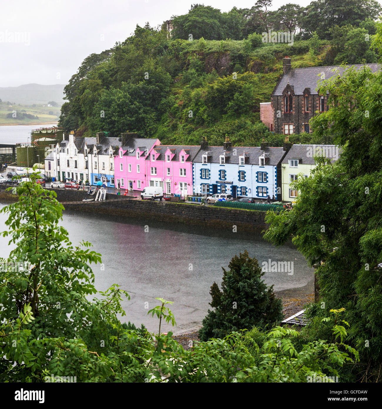 Colourful Buildings Along The Harbour Skye Island
