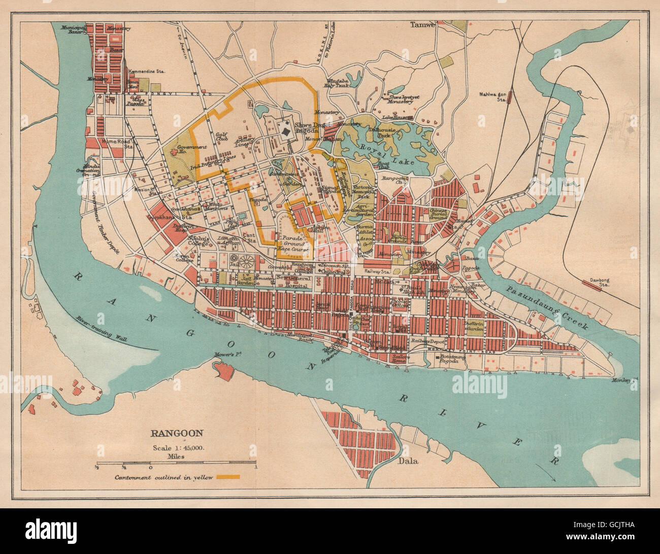 Burma City Map