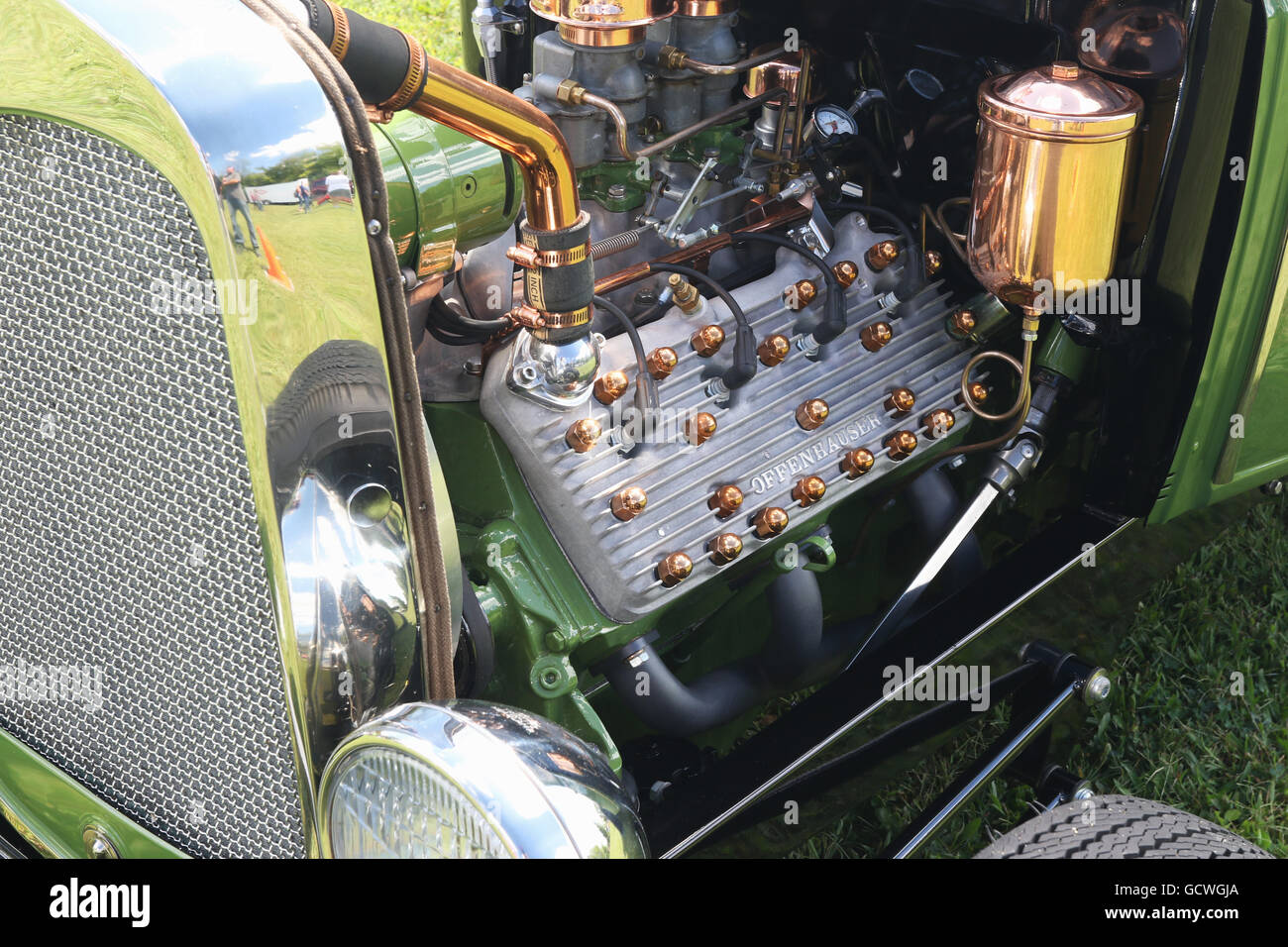 Old Pickup Engine Compartment : Engine compartment of ford pickup truck hotrod