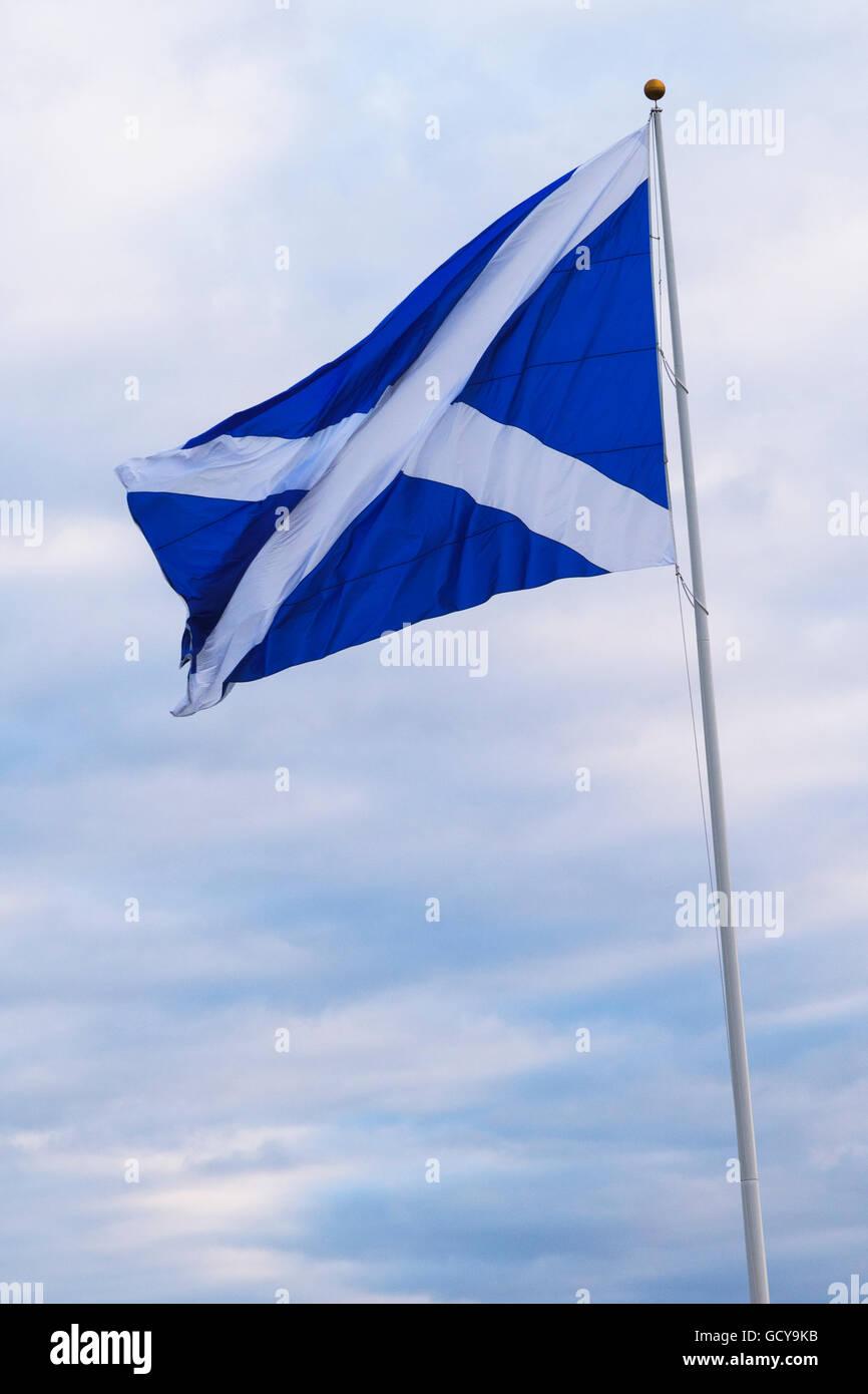flag of scotland turnberry ayrshire scotland stock photo