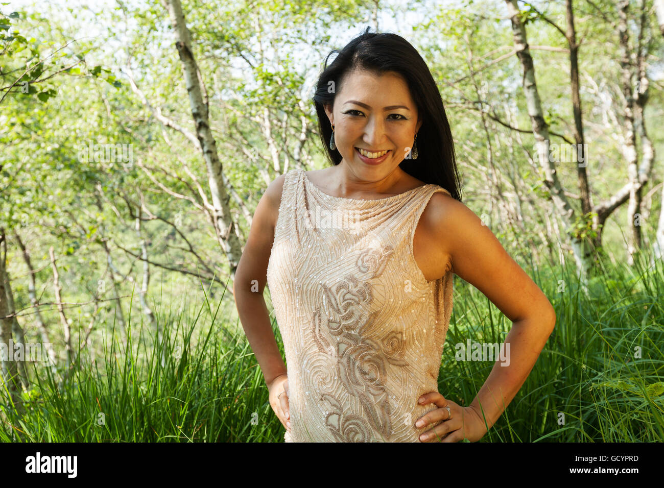 Elegant Asian Elegant Asian Woman In The Forest Stock Photo Royalty Free Image