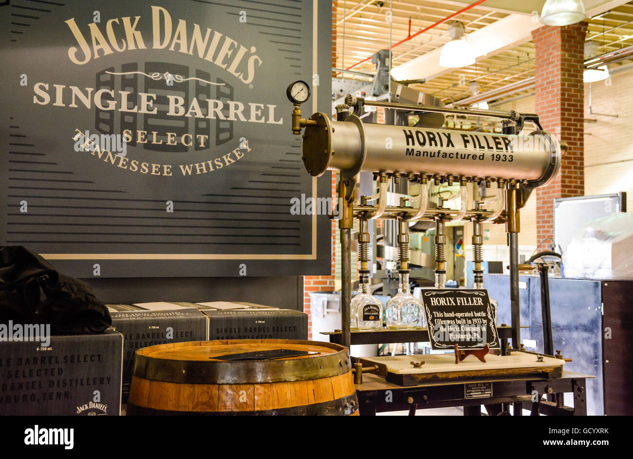 inside the white rabbit bottle shop at the jack daniel 39 s distillery stock photo royalty free. Black Bedroom Furniture Sets. Home Design Ideas