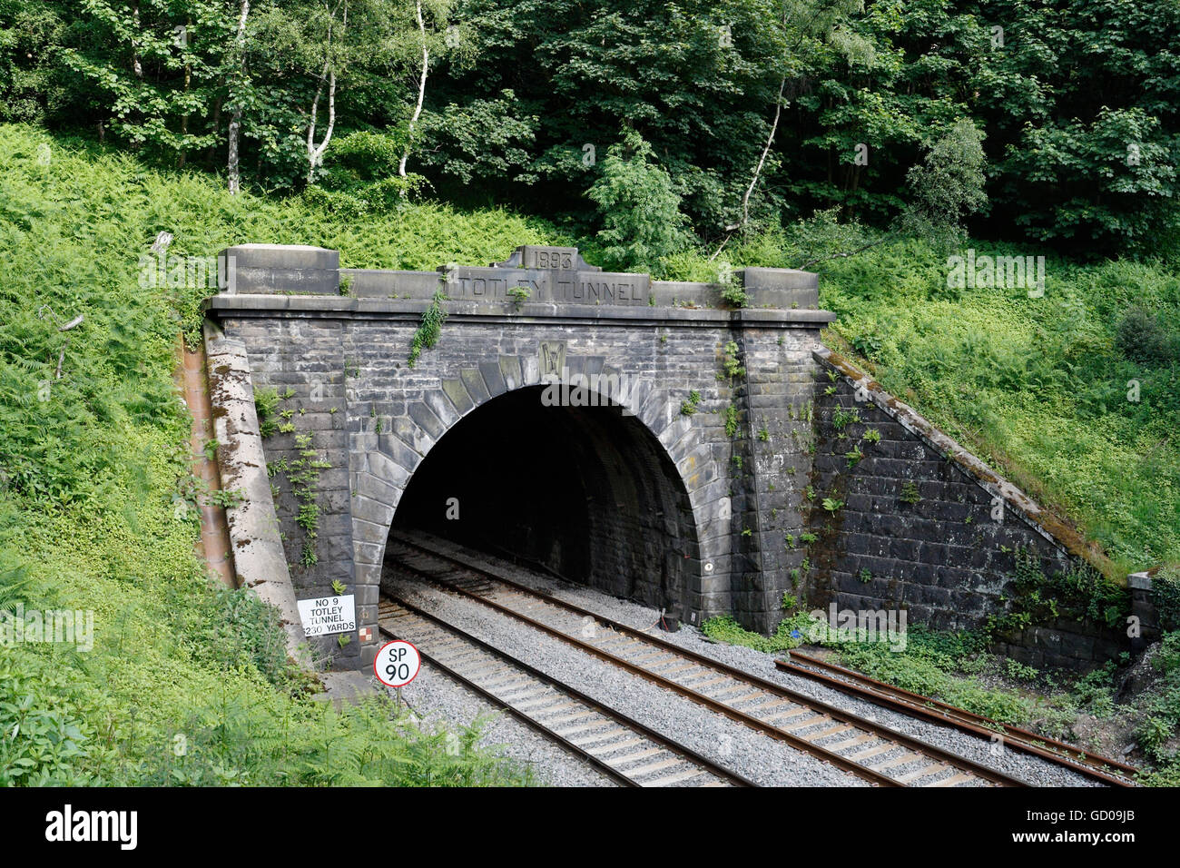 entrance to totley railway tunnel at grindleford in derbyshire stock photo royalty free image. Black Bedroom Furniture Sets. Home Design Ideas