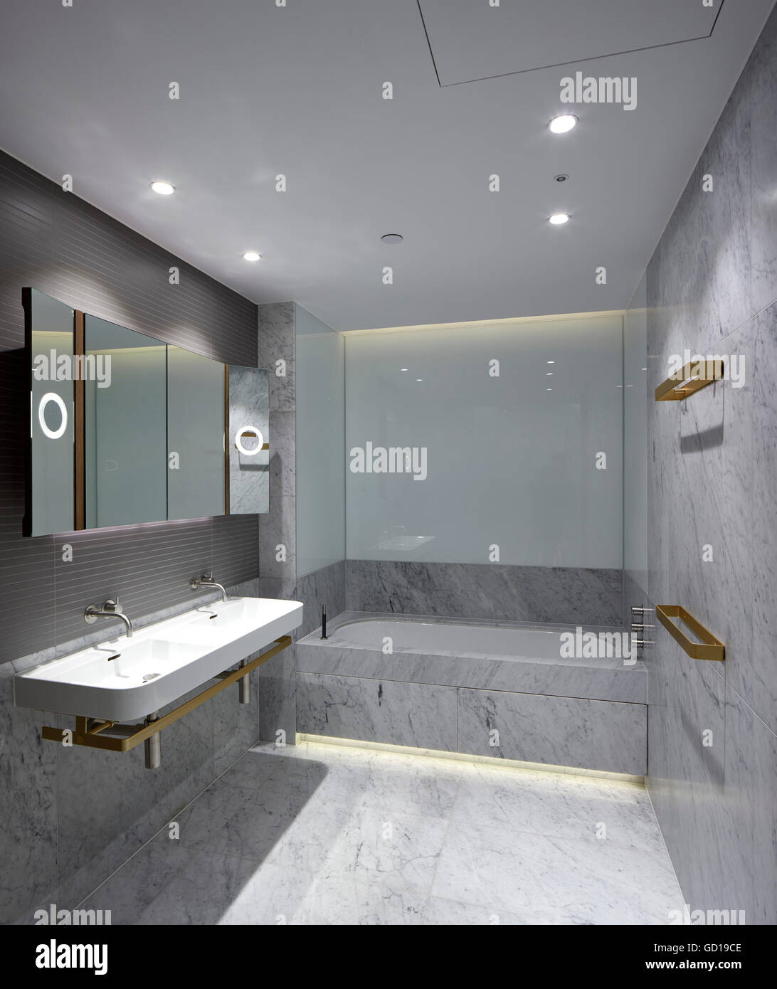 Bathroom Interior Fitzroy Place London United Kingdom Architect Johnson Naylor 2016