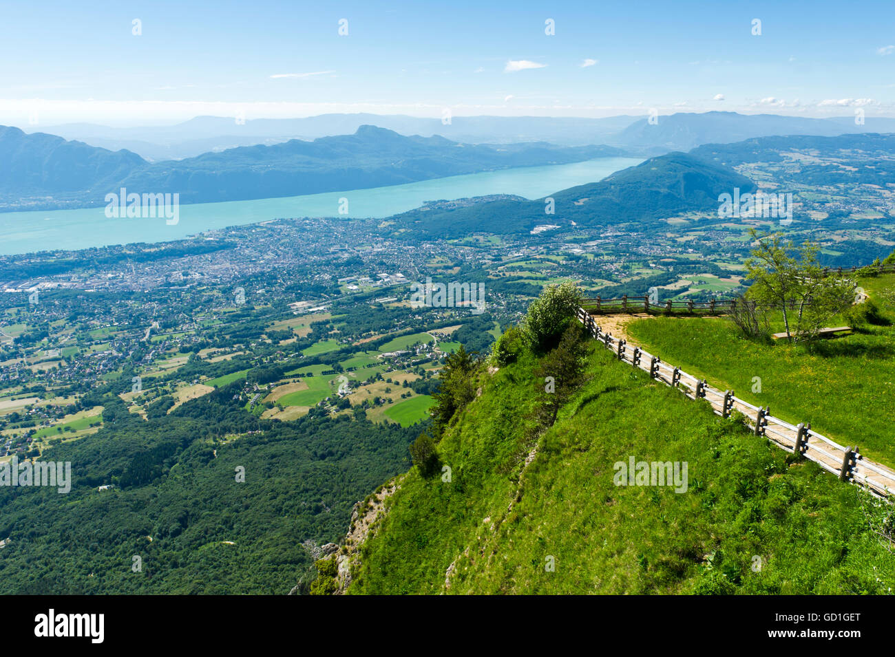 Aix les bains and lac du bourget from the viewpoint on mont revard stock photo royalty free - Meteo bourget du lac ...