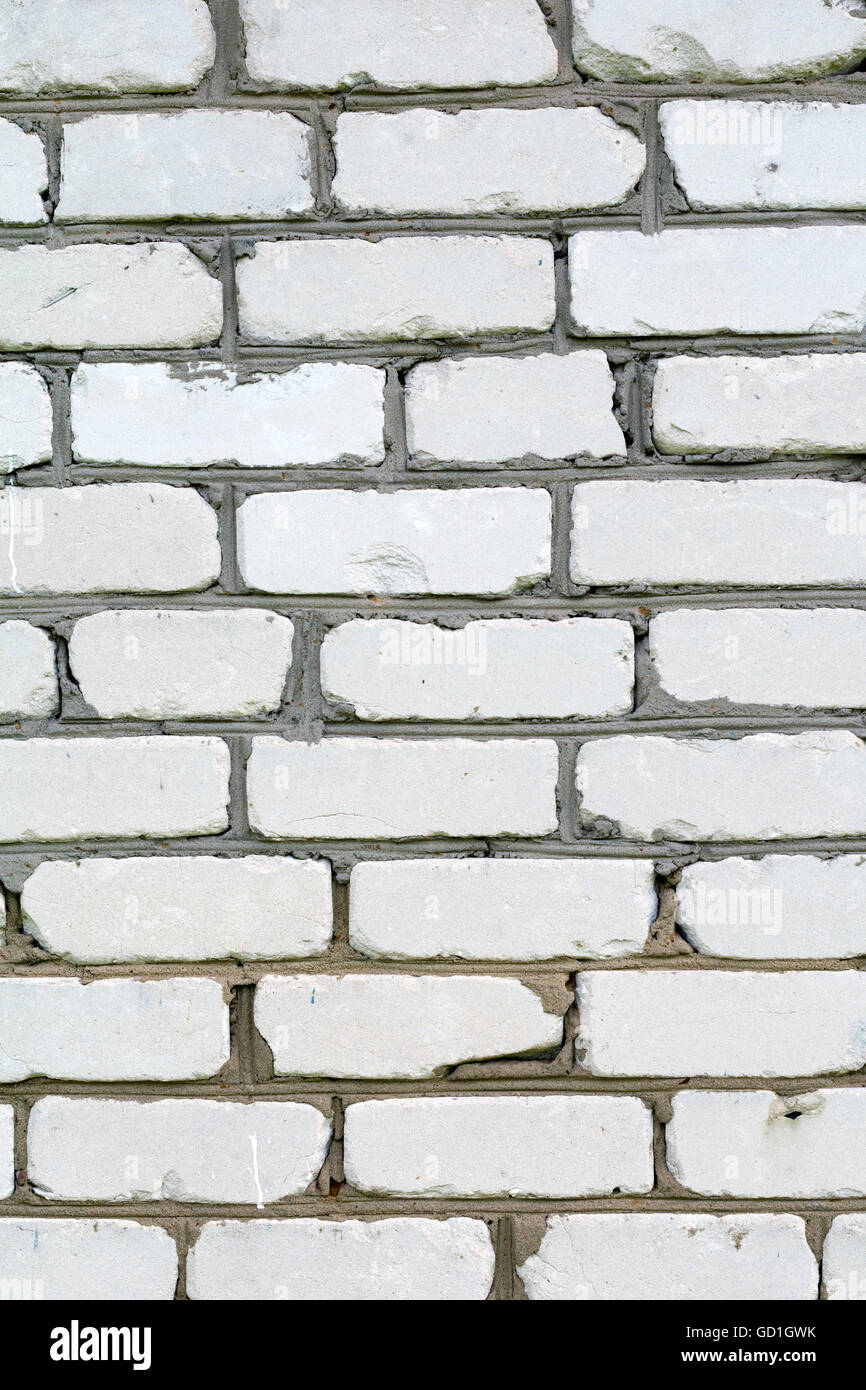 White Brick Wall Vertical Composition