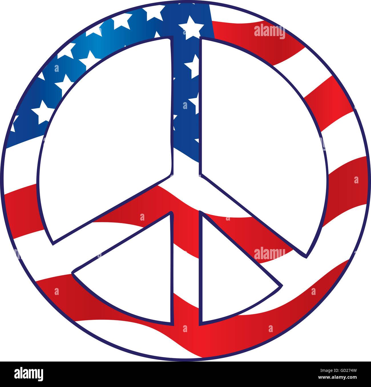 American flag peace sign stock photo 111302265 alamy american flag peace sign biocorpaavc