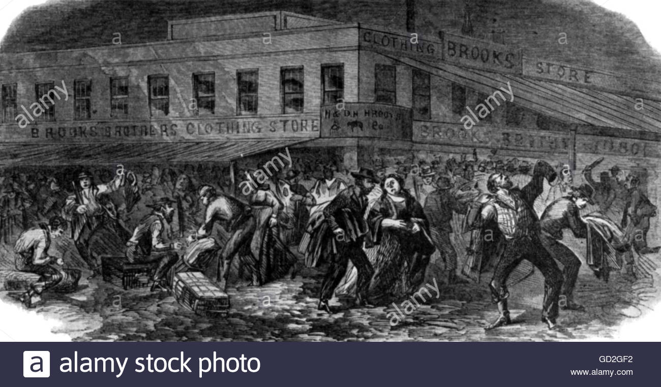 new york city draft riots of New york city draft riots (july 11-13, 1863) the nation is at this time in a state  of revolution, north, south, east, and west, wrote the.