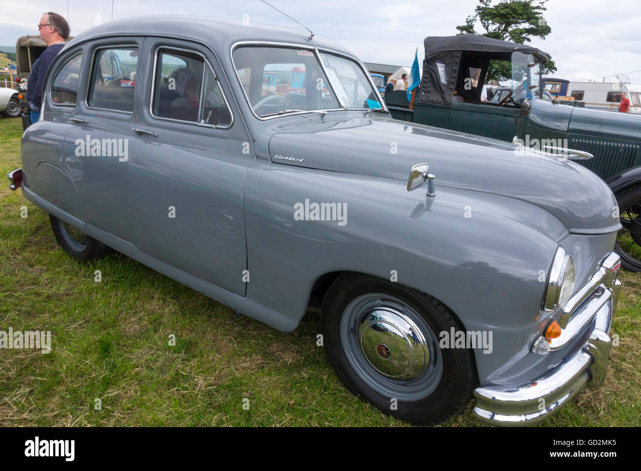 Historic Standard Vanguard Motor Car on display at the Roxby Stock ...