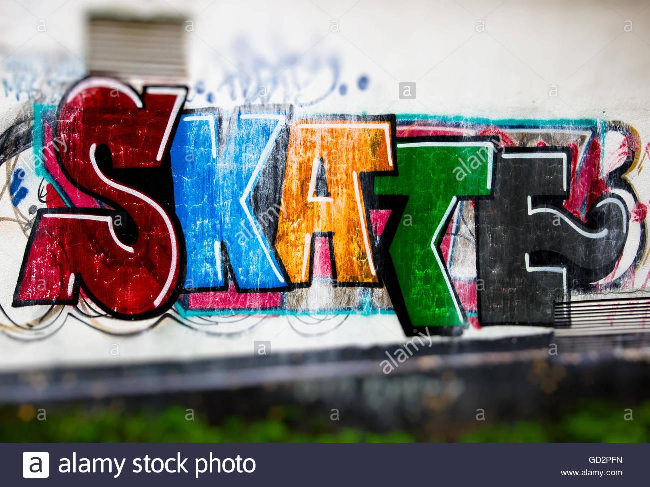 Skate wall graffiti stock photo royalty free image 111314329 alamy skate wall graffiti altavistaventures Images