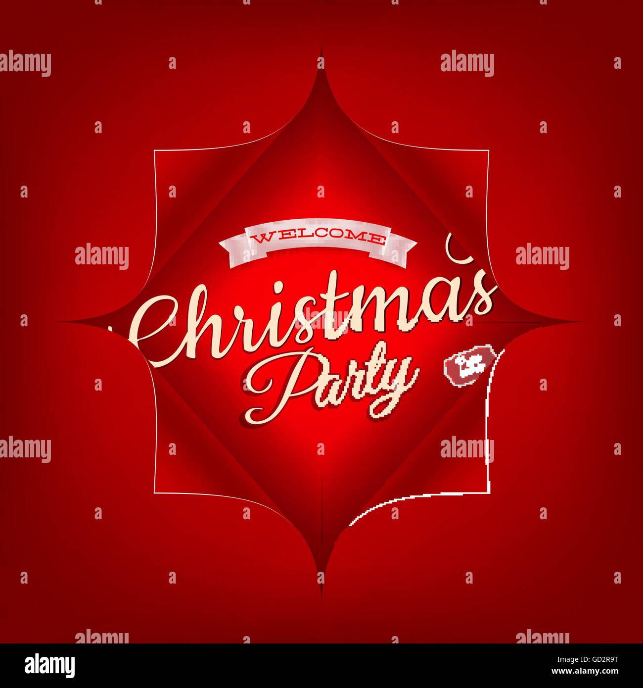 Merry Christmas Party invitation template. EPS 10 Stock Vector Art ...