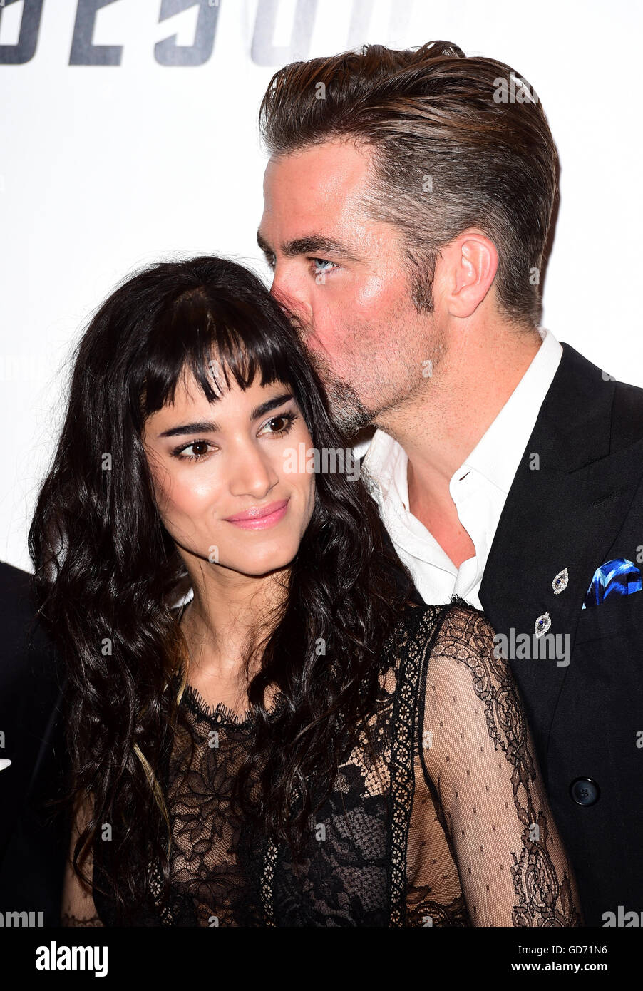 Sofia Boutella And Chris Pine Attending The Premiere Of