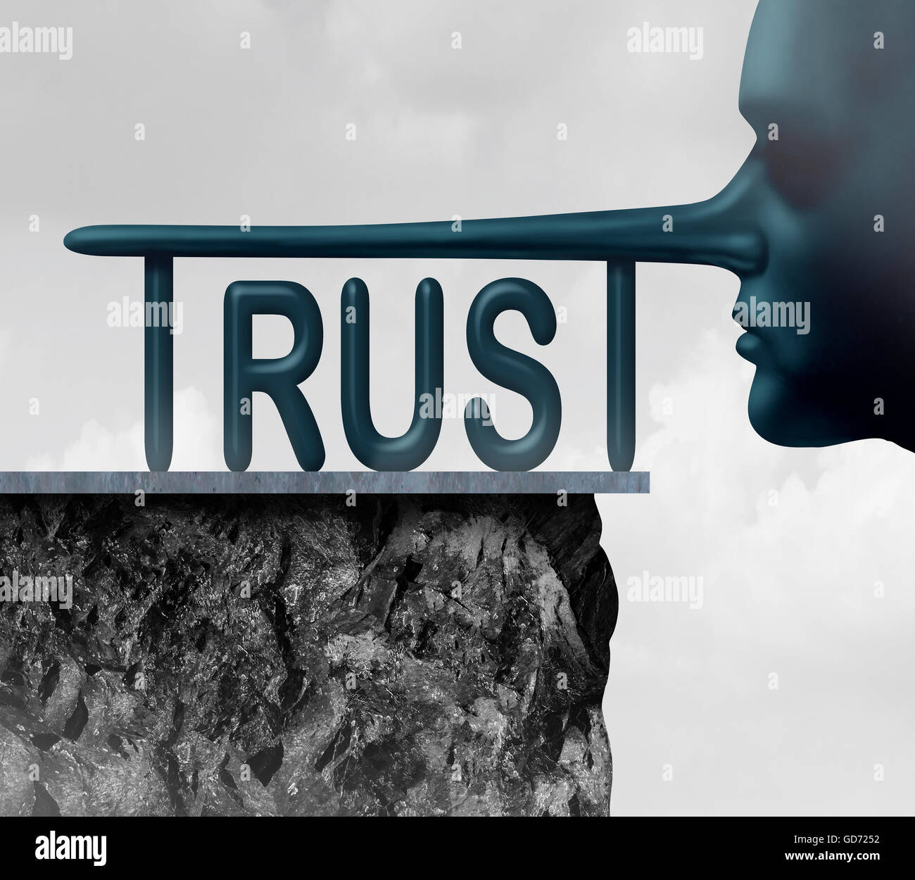 Liar concept stock photos liar concept stock images alamy concept of trust and honesty problem symbol as text with a long liar or lying person biocorpaavc Choice Image