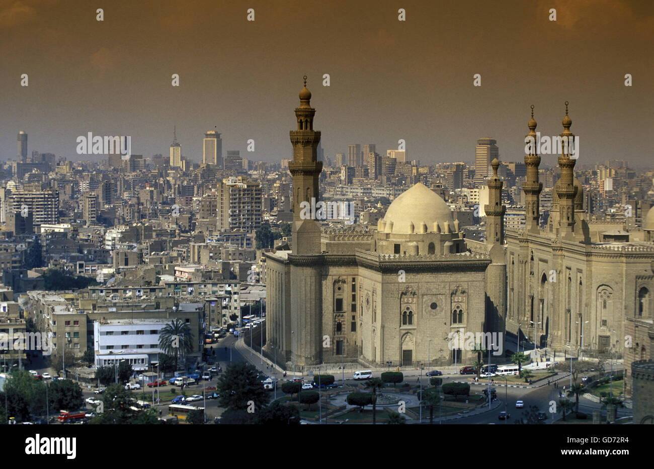 Stock Photo   The Sultan Hassan Mosque In The Old Town Of Cairo The Capital  Of Egypt In North Africa