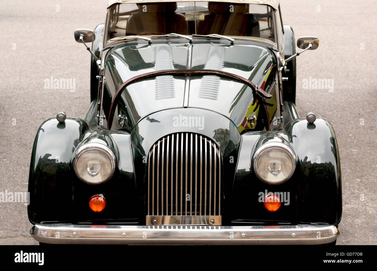 old style car in the street Stock Photo, Royalty Free Image ...