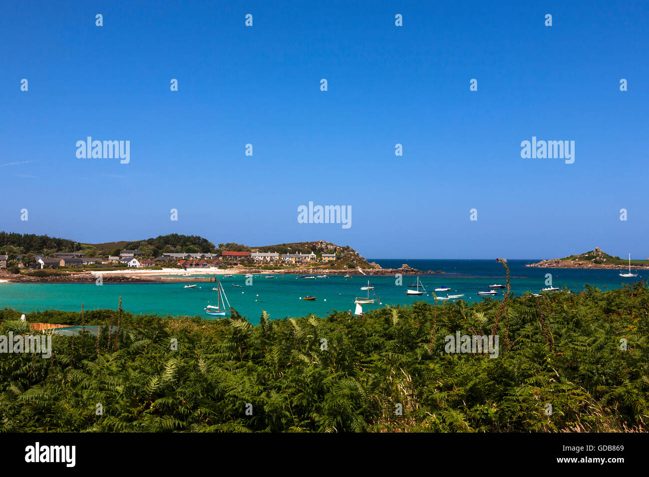 Old grimsby harbour tresco isles of scilly uk stock for Ocean isles fishing village